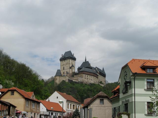 Домики в окрестностях замка Карлштейн, Чехия