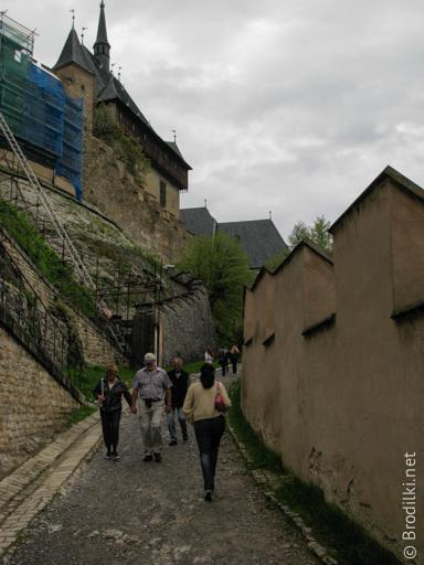 Дорога к замку Карлштейн, Чехия