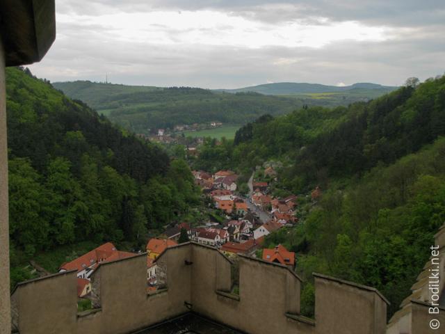 Вид из замка Карлштейн, Чехия