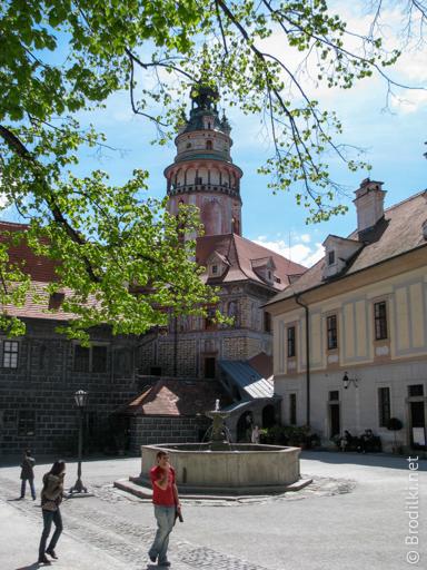 Второй внутренний двор замка Чешский Крумлов