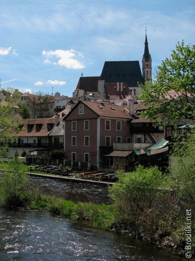 Собор Святого Вита на заднем плане, Чешский Крумлов
