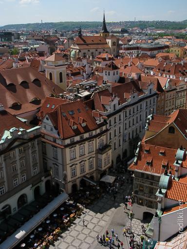 Старо Место и ресторан «У Принца« (на крыше отелея), Прага, Чехия