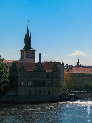 Прогулка по реке Влтава, Прага, Чехия