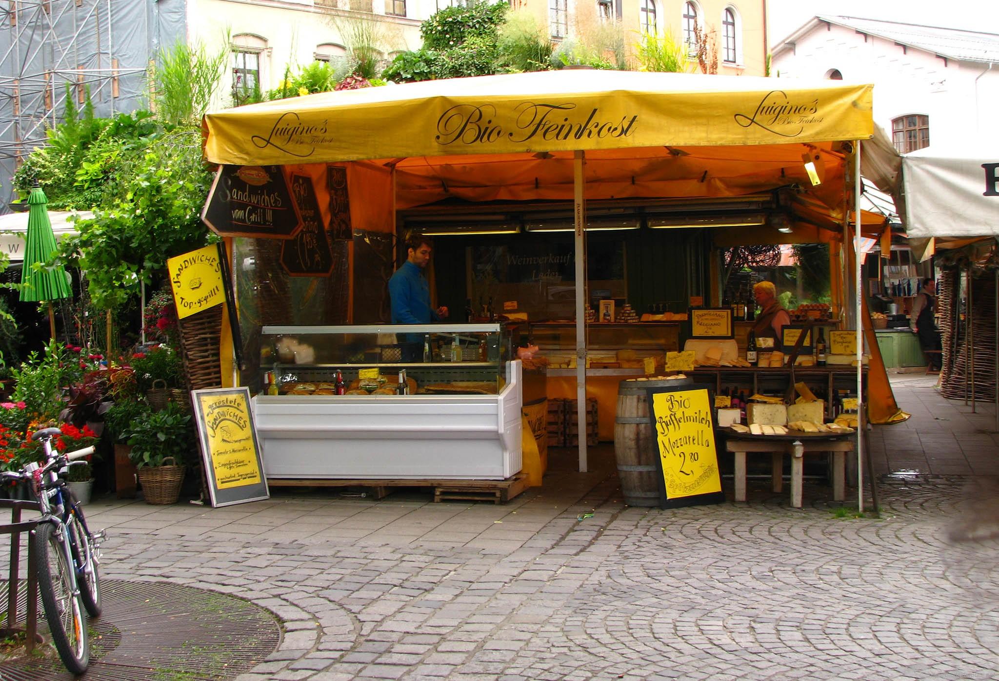 Достопримечательности Мюнхена: Рынок Викуалиенмаркт (Viktualienmarkt)