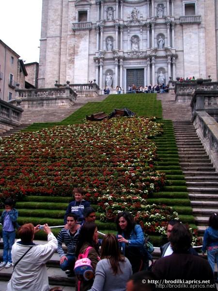 Лестница в Кафедральный собор Жироны
