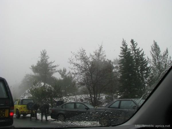 Мокрая зимняя дорога, Троодос