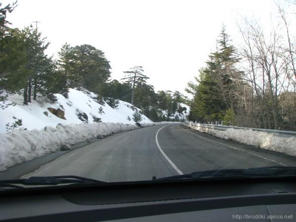 Зимняя дорога, Троодос