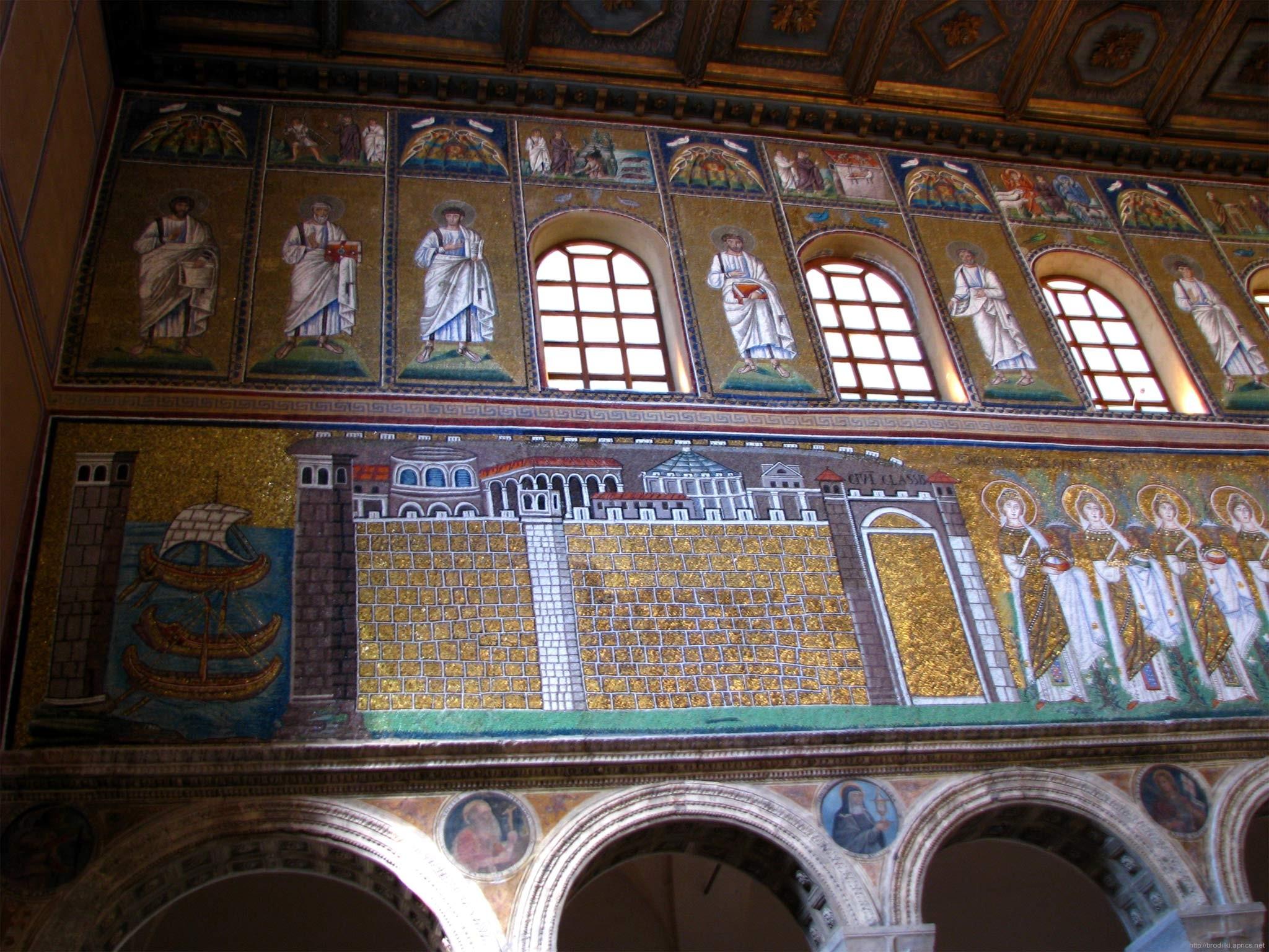 Мозаики в церкови Сан Аполинаре в Равенне