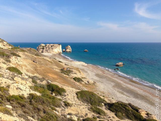 Камень Афродиты и пляж