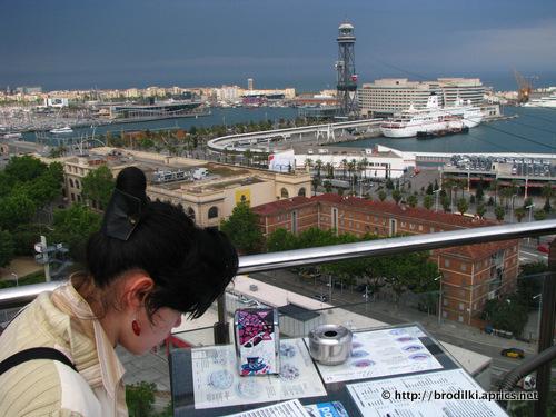 Вид на Барселону с горы Монтжуик (Барселона, Испания, достопримечательности)